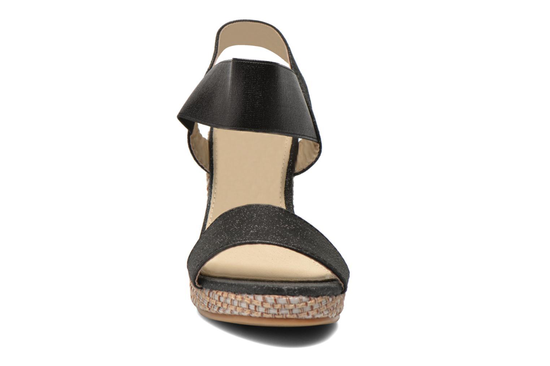 Sandales et nu-pieds Eclipse Espadrille Topaz Noir vue portées chaussures