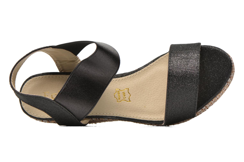 Sandales et nu-pieds Eclipse Espadrille Topaz Noir vue gauche