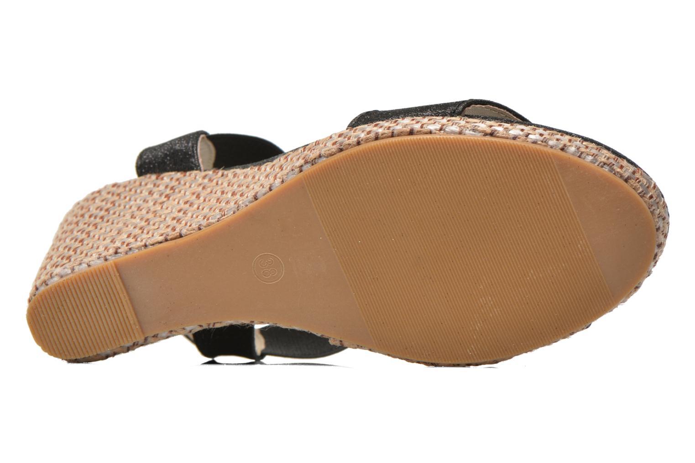 Sandales et nu-pieds Eclipse Espadrille Topaz Noir vue haut