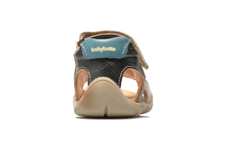 Sandalias Babybotte Takotac Negro vista lateral derecha