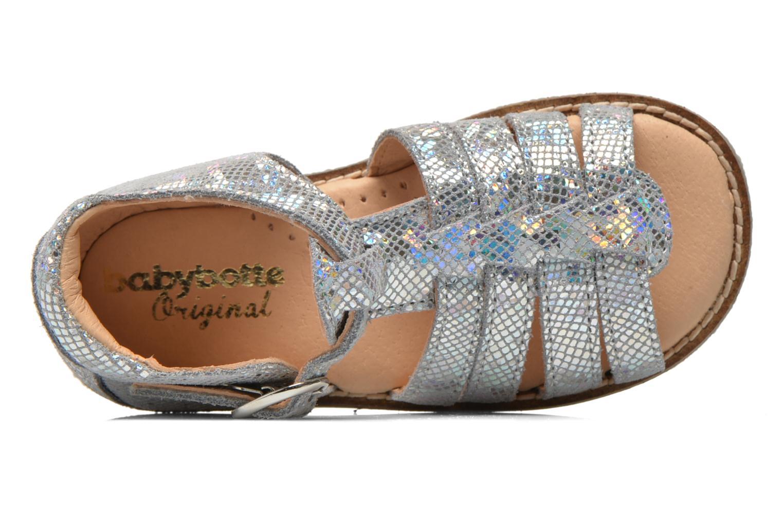 Sandales et nu-pieds Babybotte Teoxane1 Argent vue gauche