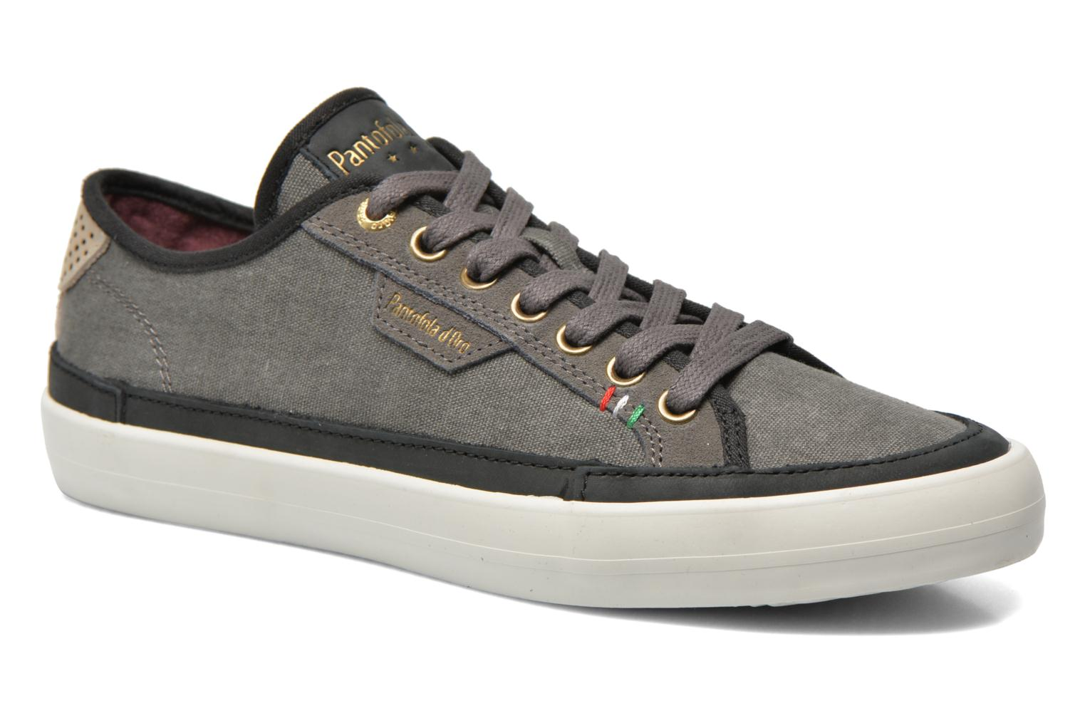 Baskets Pantofola d'Oro Veneto Canvas Low Gris vue détail/paire