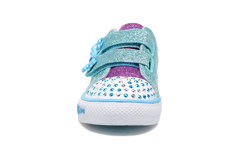 Baskets Skechers Shuffles Bow Buddies Bleu vue portées chaussures