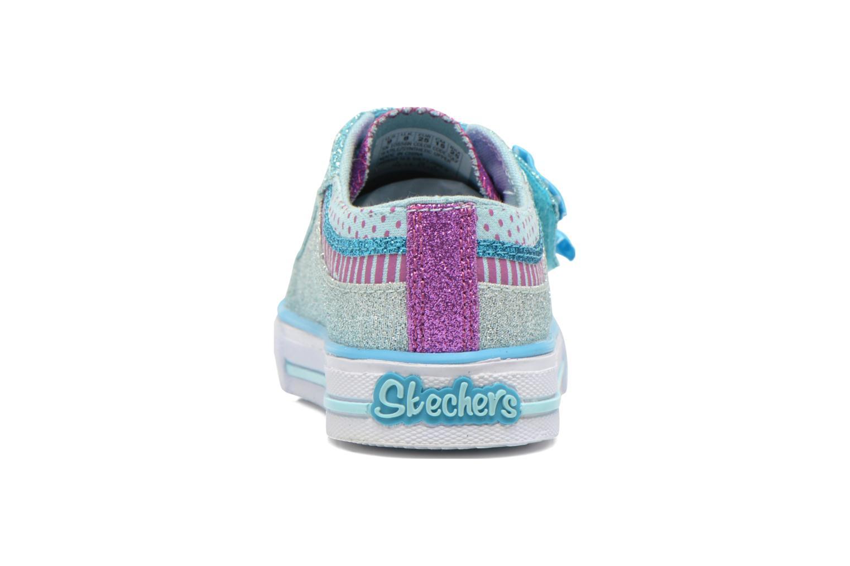 Baskets Skechers Shuffles Bow Buddies Bleu vue droite