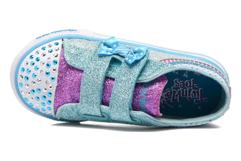 Baskets Skechers Shuffles Bow Buddies Bleu vue gauche