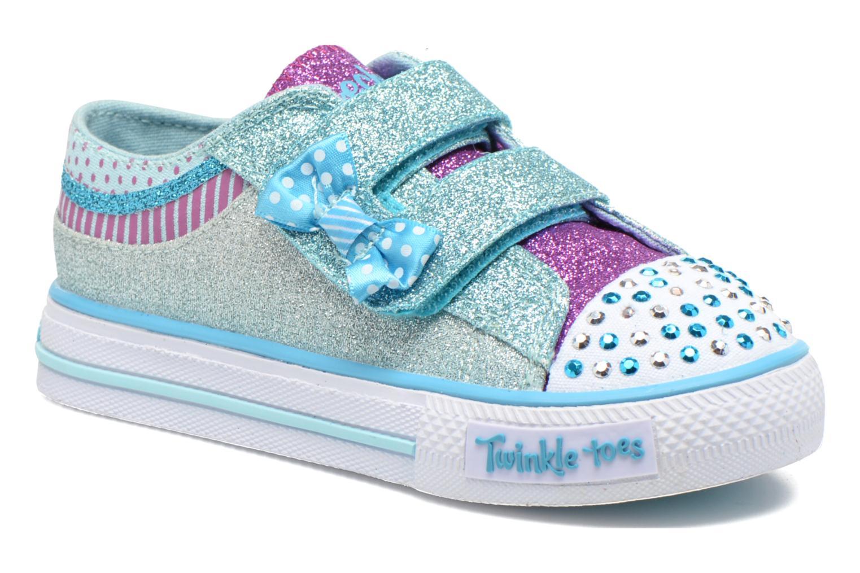 Sneakers Skechers Shuffles Bow Buddies Blå detaljeret billede af skoene