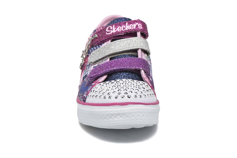 Baskets Skechers Twinkle Breeze Pop-Tastic Rose vue portées chaussures