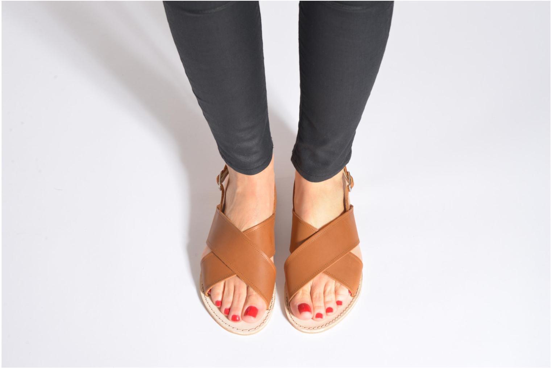Sandales et nu-pieds Bensimon Sandale Moine Marron vue bas / vue portée sac