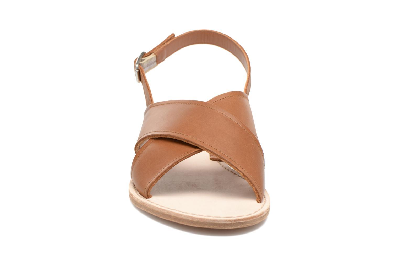 Sandales et nu-pieds Bensimon Sandale Moine Marron vue portées chaussures