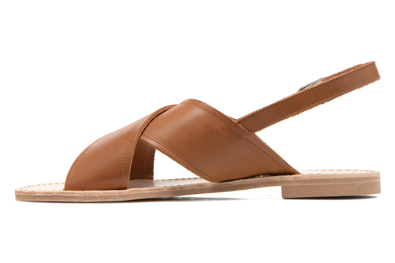 Sandales et nu-pieds Bensimon Sandale Moine Marron vue face