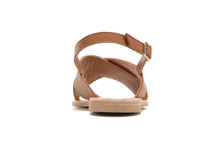 Sandales et nu-pieds Bensimon Sandale Moine Marron vue droite