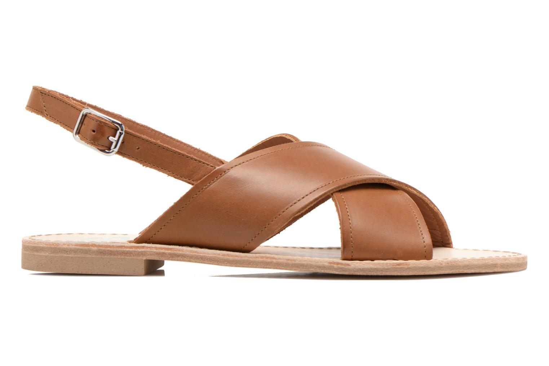 Sandales et nu-pieds Bensimon Sandale Moine Marron vue derrière