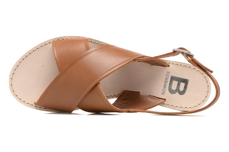 Sandales et nu-pieds Bensimon Sandale Moine Marron vue gauche