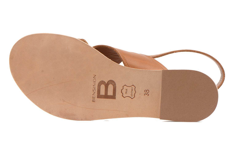 Sandales et nu-pieds Bensimon Sandale Moine Marron vue haut
