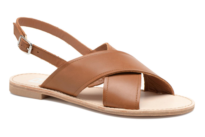 Sandales et nu-pieds Bensimon Sandale Moine Marron vue détail/paire