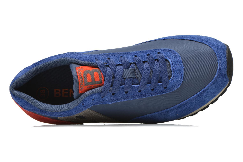 Baskets Bensimon Running Nylon Bleu vue gauche
