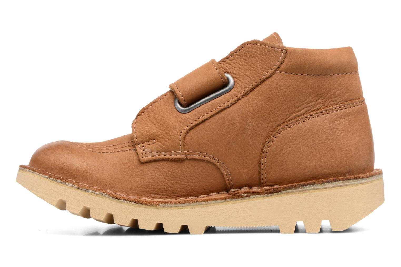Chaussures à scratch Kickers Neokrafty Marron vue face