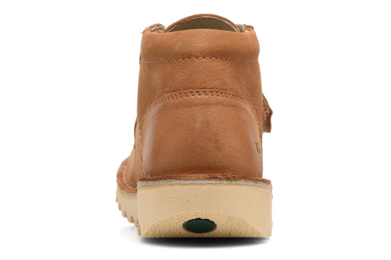 Chaussures à scratch Kickers Neokrafty Marron vue droite