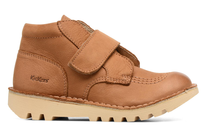 Chaussures à scratch Kickers Neokrafty Marron vue derrière
