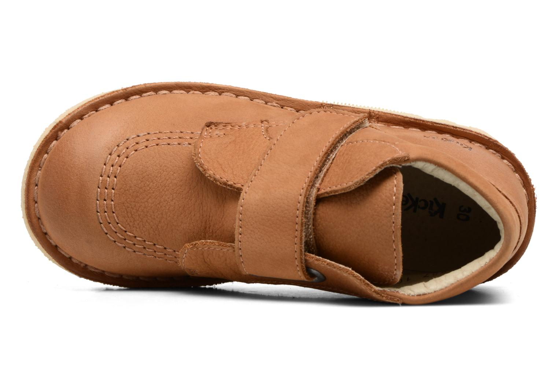 Chaussures à scratch Kickers Neokrafty Marron vue gauche