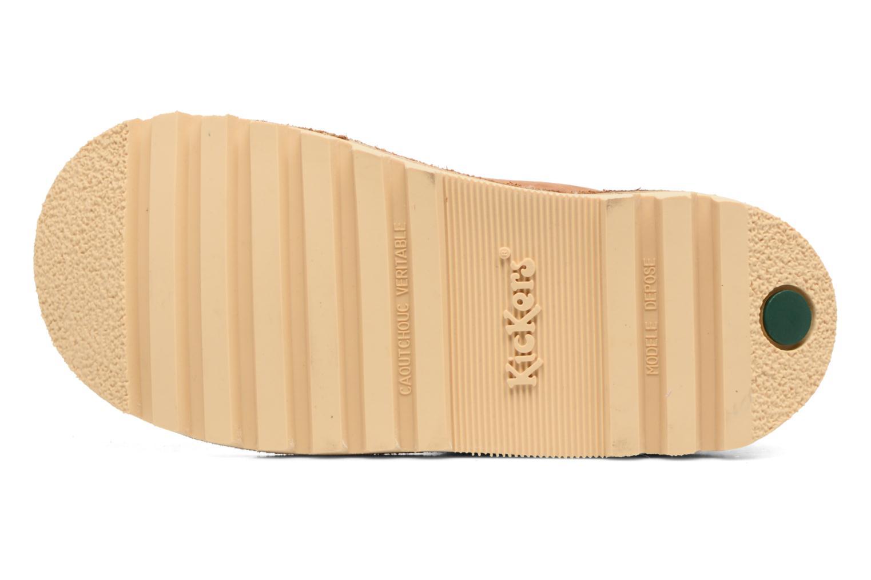 Chaussures à scratch Kickers Neokrafty Marron vue haut