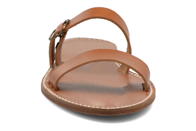 Mules et sabots Sandales de Thaddée Formentera Marron vue portées chaussures