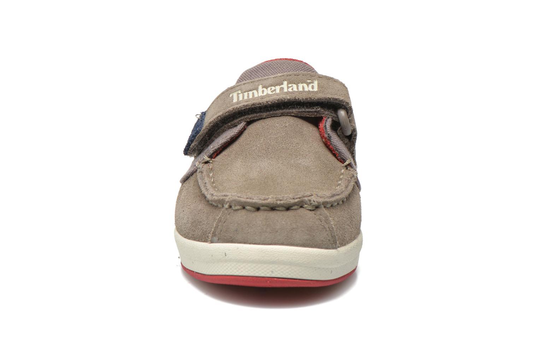 Chaussures à scratch Timberland Casco Bay H&L Boat OX Gris vue portées chaussures
