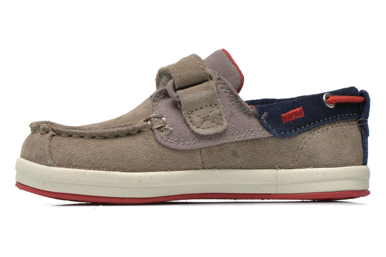 Chaussures à scratch Timberland Casco Bay H&L Boat OX Gris vue face