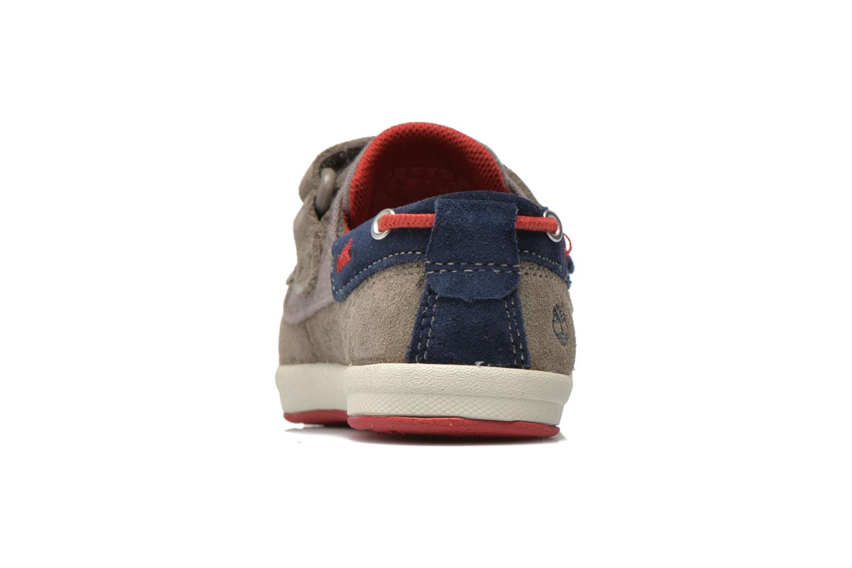 Chaussures à scratch Timberland Casco Bay H&L Boat OX Gris vue droite