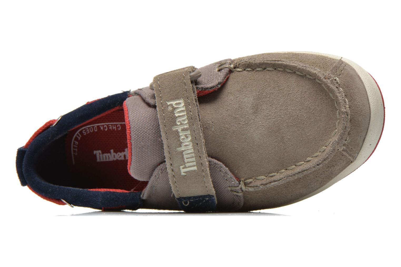 Chaussures à scratch Timberland Casco Bay H&L Boat OX Gris vue gauche