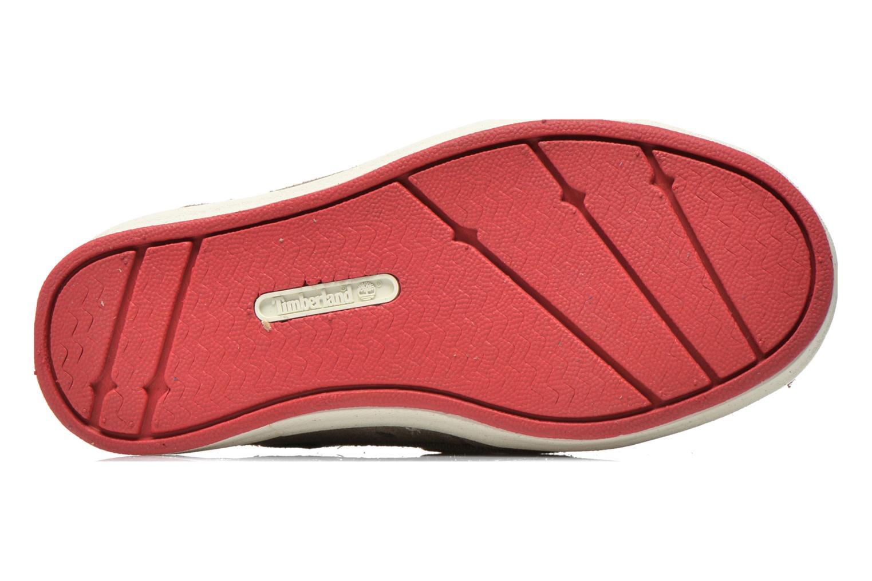 Chaussures à scratch Timberland Casco Bay H&L Boat OX Gris vue haut