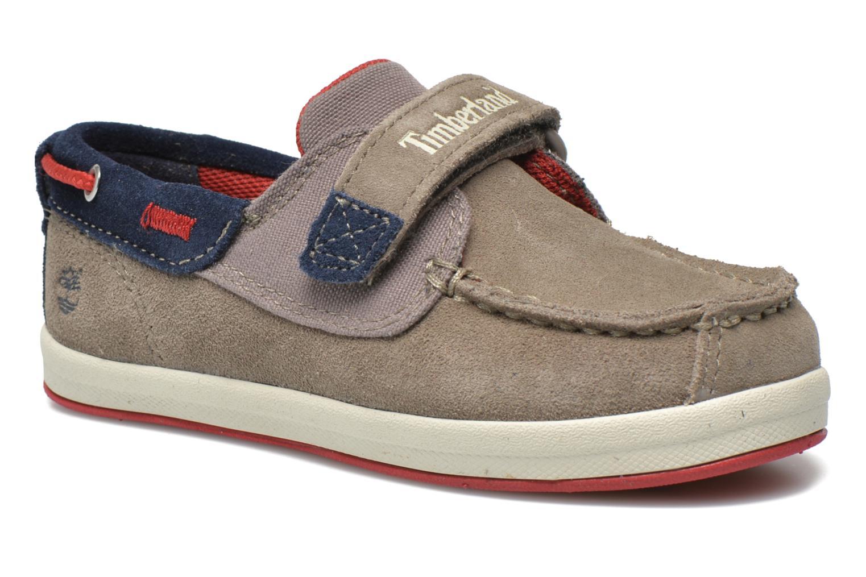 Chaussures à scratch Timberland Casco Bay H&L Boat OX Gris vue détail/paire