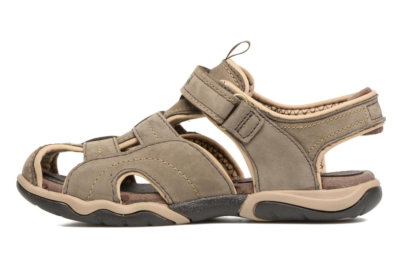 Sandali e scarpe aperte Timberland Oak Bluffs Leather Fisher Grigio immagine frontale