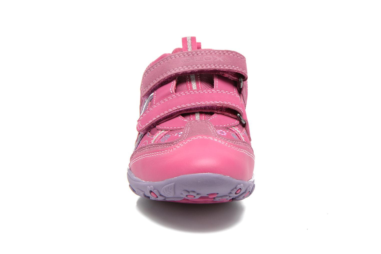 Baskets Geox JR Better J44C1A Rose vue portées chaussures