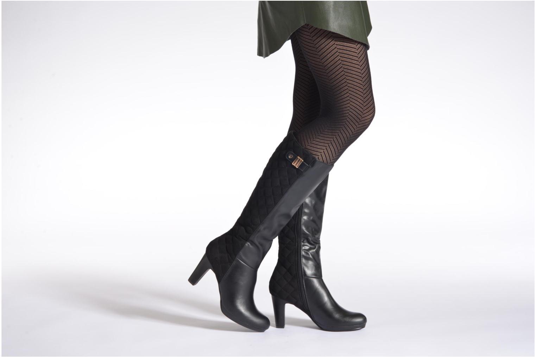 Stiefel Divine Factory Hamana schwarz ansicht von unten / tasche getragen