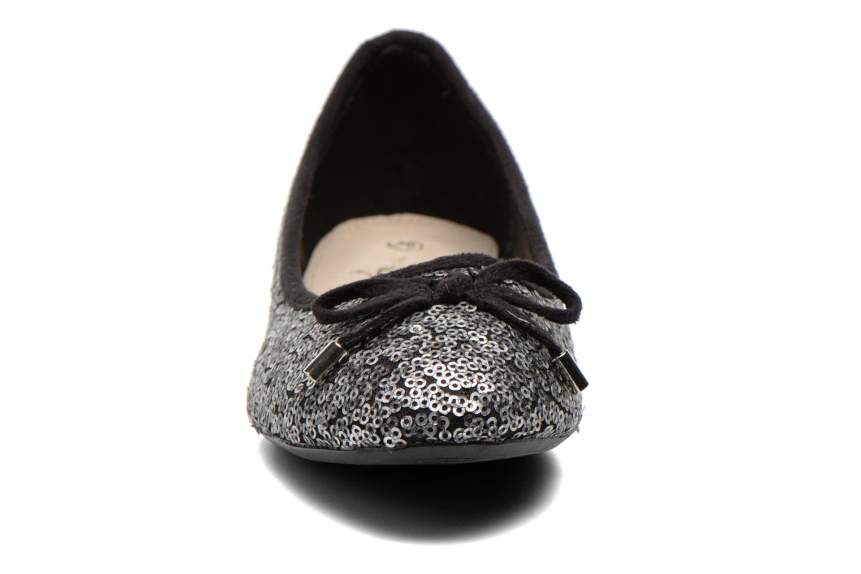 Ballerines Divine Factory Oulu Argent vue portées chaussures