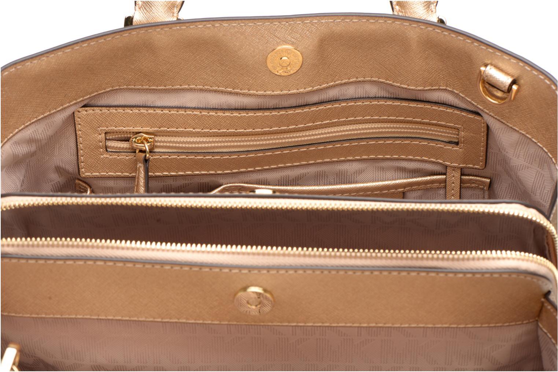 Borse Michael Michael Kors SAVANNAH LG SATCHEL Oro e bronzo immagine posteriore
