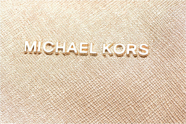 Borse Michael Michael Kors SAVANNAH LG SATCHEL Oro e bronzo immagine sinistra