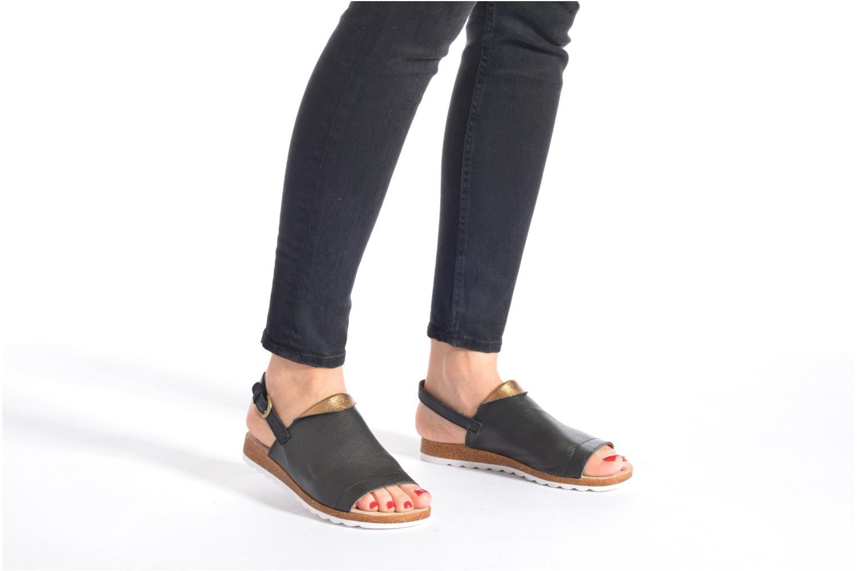 Sandales et nu-pieds Hush Puppies Nannette Jade Noir vue bas / vue portée sac