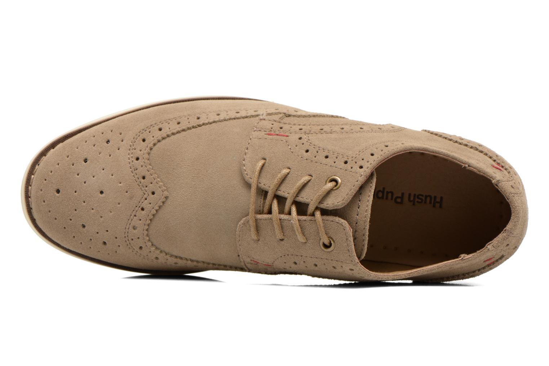 Zapatos con cordones Hush Puppies Fowler EZ Dress Beige vista lateral izquierda