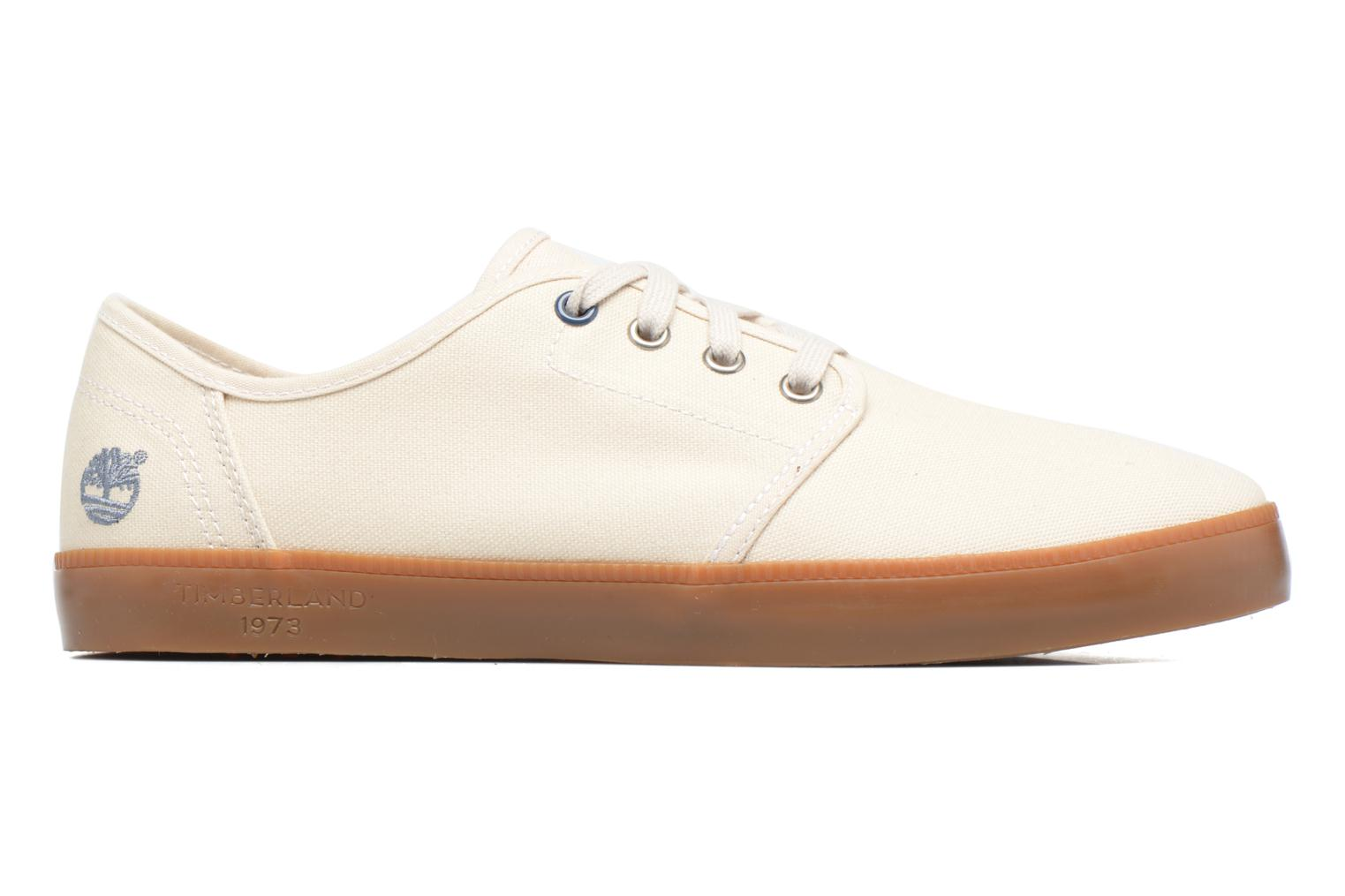 Sneakers Timberland Newport Bay Canvas Plain Wit achterkant