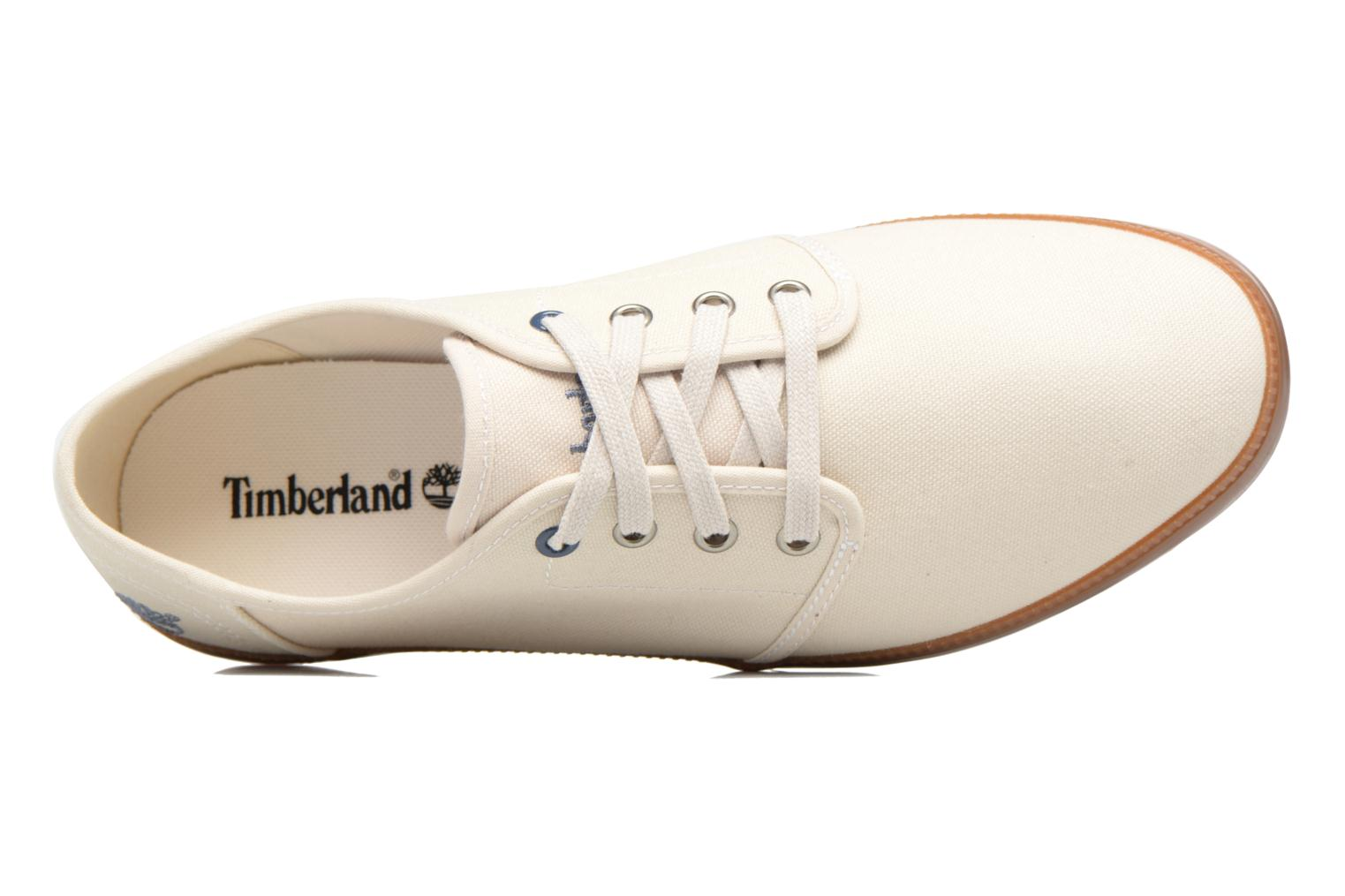 Baskets Timberland Newport Bay Canvas Plain Blanc vue gauche