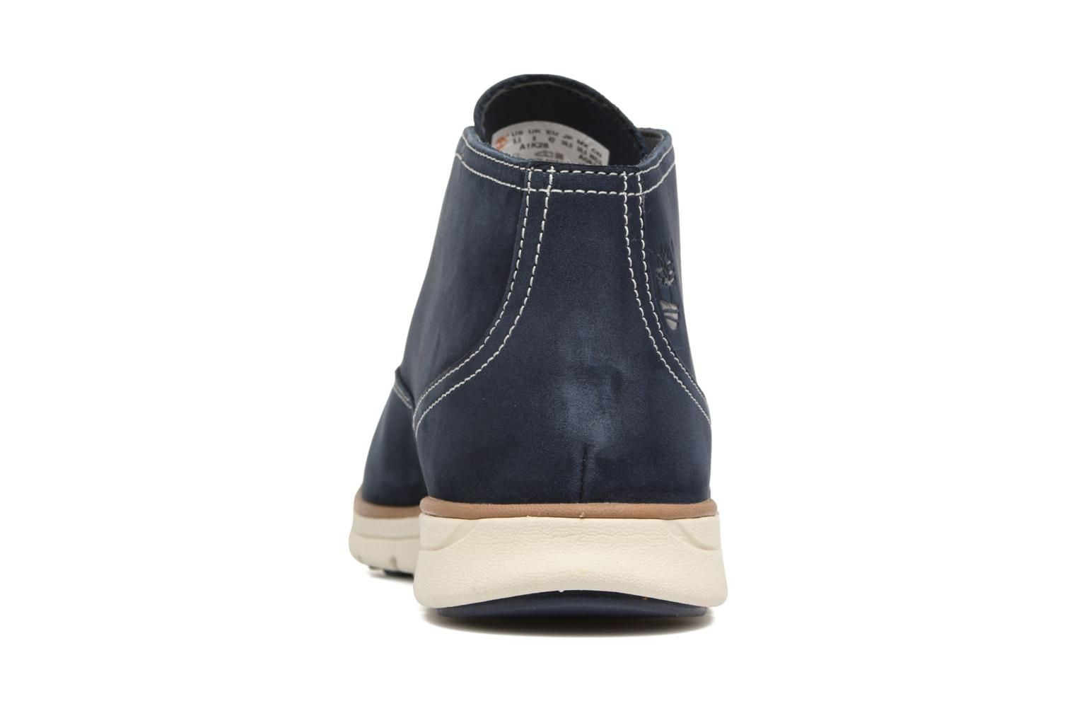 Lace-up shoes Timberland Bradstreet PT Chukka Blue view from the right