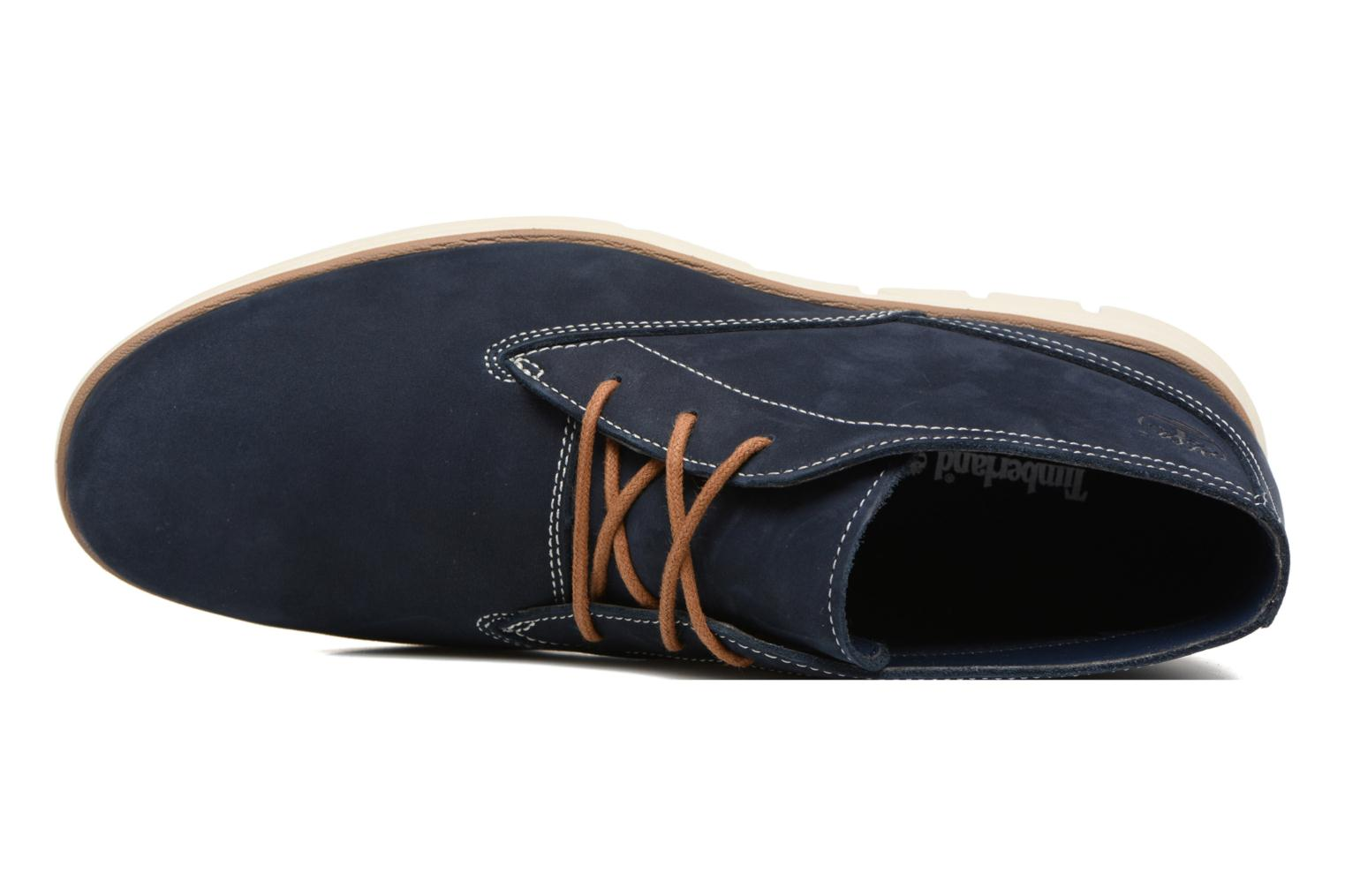 Lace-up shoes Timberland Bradstreet PT Chukka Blue view from the left