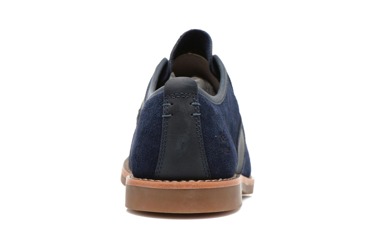 Zapatos con cordones Timberland Brooklyn Park Leather Ox Azul vista lateral derecha