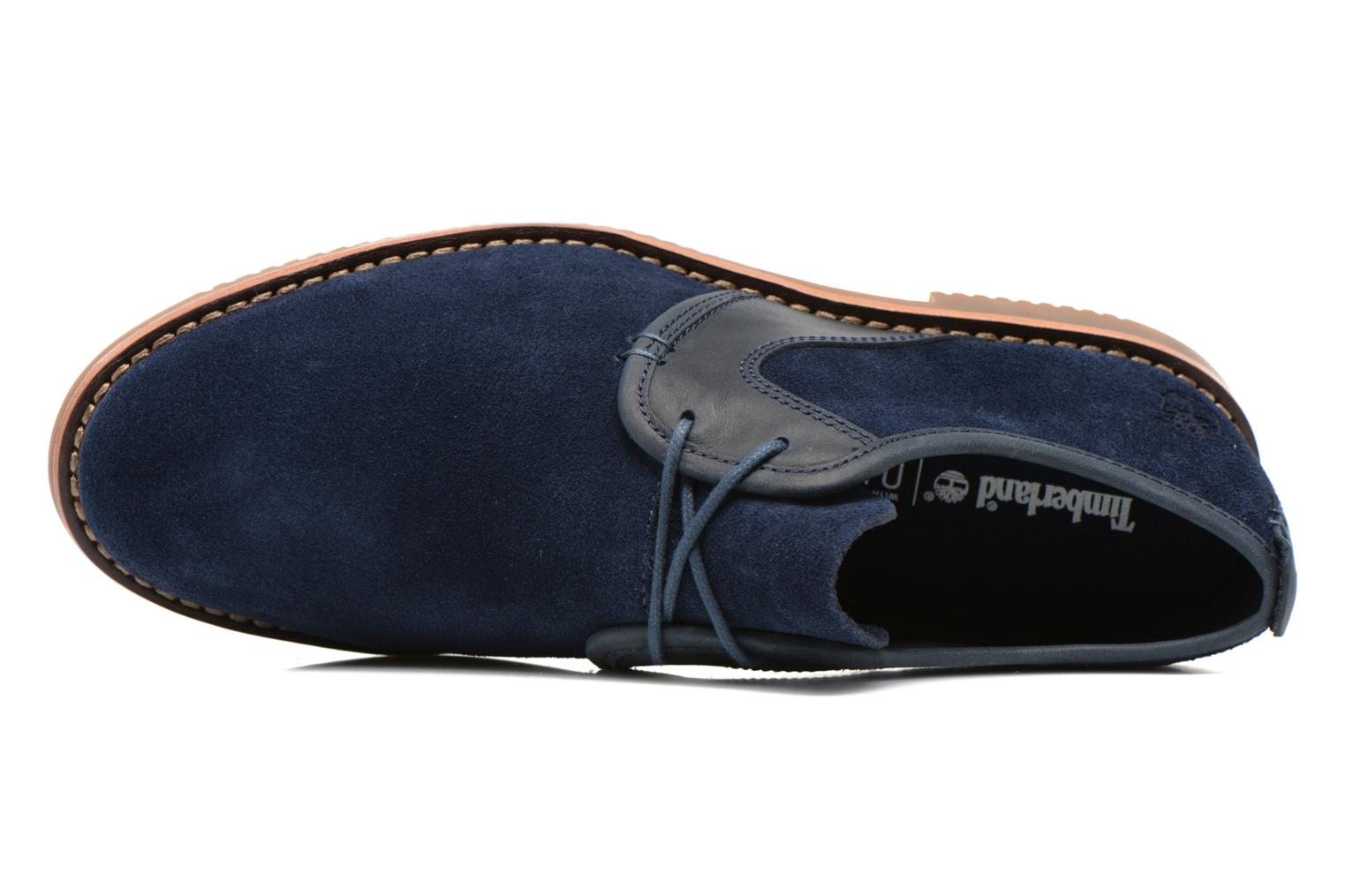 Zapatos con cordones Timberland Brooklyn Park Leather Ox Azul vista lateral izquierda