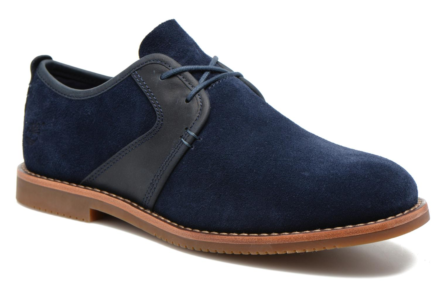 Zapatos con cordones Timberland Brooklyn Park Leather Ox Azul vista de detalle / par