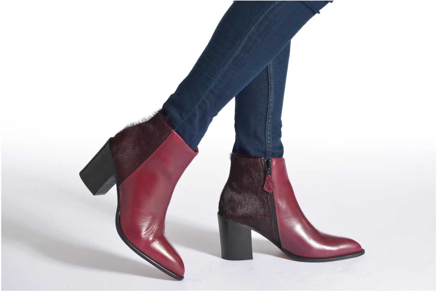 Ankle boots Elizabeth Stuart Java 922 Burgundy view from underneath / model view
