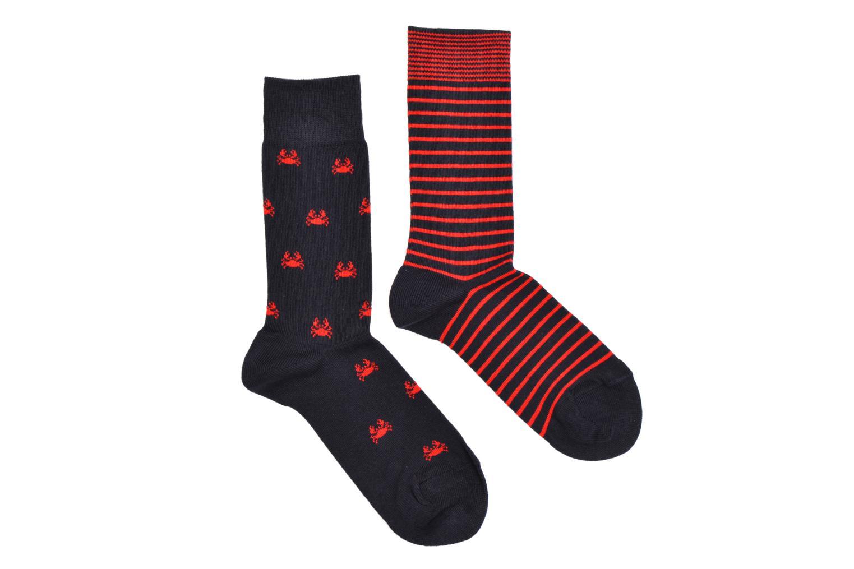 Calcetines Motifs Pack de 2 Rouge