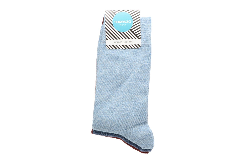 Chaussettes Homme Pack de 3 Unies coton Bleu/Bordeaux